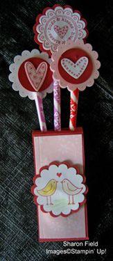 Valentines Pixie Stix for Girls' Card Club
