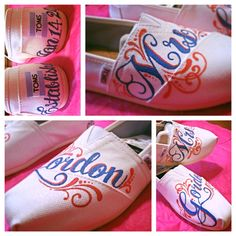 Custom wedding TOMS by FrancesBowtique on Etsy, $100.00