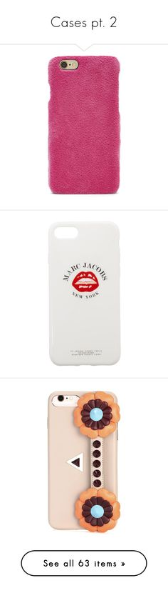 """Cases pt. 2"" by cmmpany ❤ liked on Polyvore featuring accessories, tech accessories, pink, forever 21, white, marc jacobs, marc jacobs iphone case, apple iphone case, iphone cases and iphone cover case"