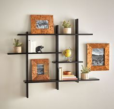 Show off your favorite things and organize the nicknacks you own on simple display shelves.