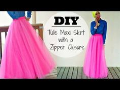 DIY | Tulle Maxi Skirt | With a Hidden Zipper - YouTube