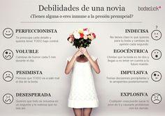 ¿Cuáles son tus debilidades? #bodas #novia #debilidades