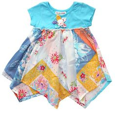 MIMI & MAGGIE | Visit to the Museum Toddler Handkerchief Dress - Natural - One Good Thread