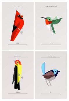 40 designs d'animaux minimalistes - graphisme