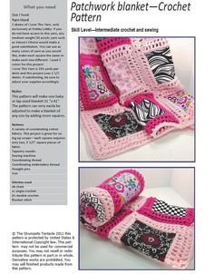 Crochet baby blanket pattern patchwork by TheStrumpetsTentacle, $4.99