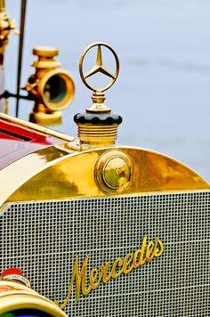 1911 Mercedes-benz 50 Hp Maythorn Tourer Hood Ornament - by Jill Reger Retro Cars, Vintage Cars, Antique Cars, Car Hood Ornaments, Automobile, Daimler Benz, Car Badges, Car Logos, Mercedes Benz Logo
