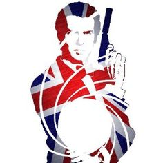 JAMES BOND 007 PIERCE BROSNAN UNION JACK Repro Movie Poster - out of stock boo...