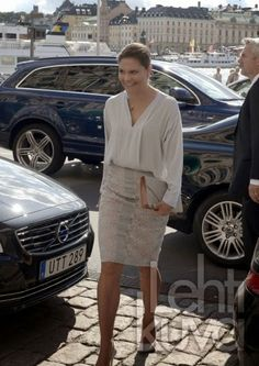 MYROYALS&HOLLYWOOD FASHİON:  Crown Princess Victoria attended the Stockholm Chamber of Commerce's Export Hermes Award, Stockholm, Sweden, August 29, 2014