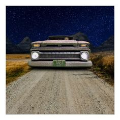 Rusted Old Vintage Colorado Pick Up Truck Poster  $21.05  by ToastedAutos  - custom gift idea