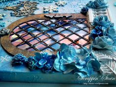 """Mixed Media Canvas """"Frozen"""" 3 by Scrappin' Stain"""