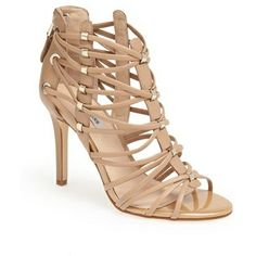 Nude pick of the day: GUESS Leday sandal camel found on NUDEVOTION. #fashion #shoes