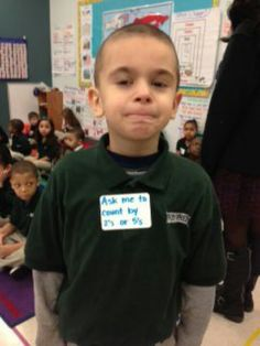 """Check out Troy Prep kindergarten teacher Jamie O'Brien's """"Ask Me"""" stickers. they're individualized and allow adults to ask kids to show off their skills as they walk around the building (i. in the lunch room etc.) A big hit. Student Learning Objectives, Student Teaching, Teaching Ideas, Classroom Activities, Learning Activities, Classroom Ideas, Teach Like A Champion, Teachers Corner, Teaching Techniques"""
