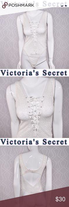Victoria's Secret lingerie teddy Bodysuit New L New Victoria's Secret  All dressed up and ready to show off. Plunge neckline High-cut leg Pulls on; Botton closure  Thong bottom Victoria's Secret Intimates & Sleepwear
