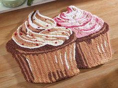 Cupcake Shaped Kitchen Accent Rug