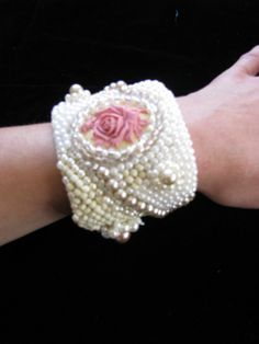Hey, I found this really awesome Etsy listing at https://www.etsy.com/listing/114259111/moonlight-and-roses-beaded-cuff