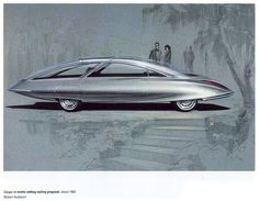 Coupe in exotic setting styling proposal, 1962. Robert Hubbach