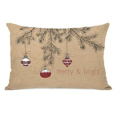 You'll love the Merry and Bright Ornaments Lumbar Pillow at Joss & Main - With Great Deals on all products and Free Shipping on most stuff, even the big stuff.