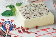 Gelatina de yogurt con arándanos
