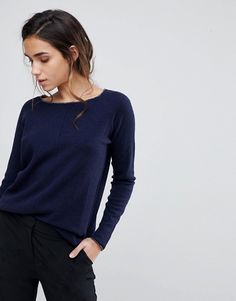 Sisley Boxy Knit Sweater With Cashmere Blend $90.00 Free Shipping & Returns*