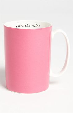 kate spade new york 'say the word - skirt the rules' porcelain mug available at #Nordstrom $20