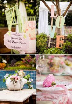 LOVE-ly Tea Party Bridal Shower {Vintage Lace + Pastels}