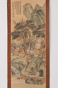 Check out Chinese hanging scroll People painting on silk Antique wall art hs0703  http://www.ebay.com/itm/Chinese-hanging-scroll-People-painting-on-silk-Antique-wall-art-hs0703-/112026335176?roken=cUgayN&soutkn=wKBKFp via eBay
