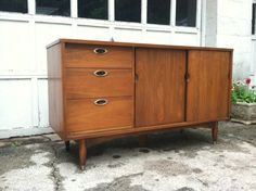 Philadelphia: 1960 danish MODERN credenza 5.5ft eames knoll era Mid century MODERN $375 - http://furnishlyst.com/listings/328336