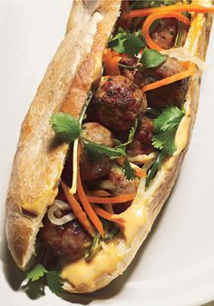 pork meatball banh mi more pork meatballs vietnamese sandwich banh mi ...