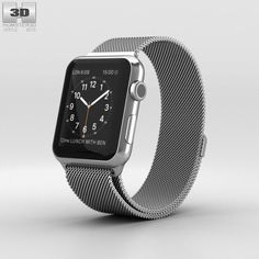 Apple Watch 42mm Stainless Steel Case Milanese Loop 3d model from humster3d.com. Price: $40