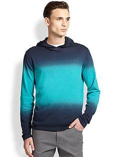 Michael Kors Dip-Dye Linen & Cotton Hoodie