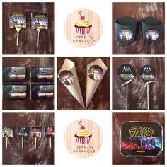 STAR WARS na sua festa!  Kit personalizado: -chupas, caixa de batatas fritas, chocolates, cones pipocas, palitos cupcake/brigadeiro e marmitas...  É só escolher!!