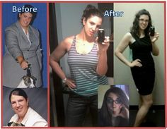 """This is my Before and After shot- I am 6'1"""", and have lost about 105 pounds, and have added so many things to my life. I have PCOS and Metabolic Syndrome- trust me, if I can do it, so can you!!! esunlin"""