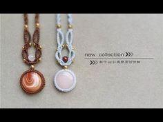 手工DIY 一颗疯狂的石头【圆形玛瑙吊坠】编织教程 - YouTube Macrame Bracelet Tutorial, Macrame Necklace, Macrame Bracelets, Tatting Jewelry, Diy Jewelry, Beaded Jewelry, Jewelry Design, Handmade Jewelry, Macrame Art