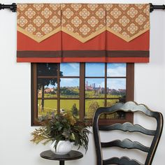 This decorative panel features a vibrant mustard flap overlayed with a floral pattern flap and finished off with a brown band. This window accessory is magnetically connected to a spice fabric panel that is reversible with brown on the back. Contemporary Curtains, Contemporary Decor, Contemporary Kitchen Backsplash, Nursery Window Treatments, Window Toppers, Types Of Curtains, Curtain Types, Window Accessories, Decorative Panels