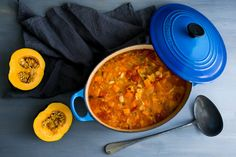 The inspiration for this minestrone was a bag of Rancho Gordo Royal Corona beans that I have had in my pantry for a while. Royal Coronas are large white European runner beans that are similar to Greek (White Squash Recipes) New Recipes, Soup Recipes, Cooking Recipes, Healthy Recipes, Nytimes Recipes, Cooking Nytimes, Veggie Recipes, Healthy Eats, Vegetarian Recipes