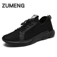 2017 new mens summer casual lighted shoes for adults man mesh breathable brand flat tubular men's outdoor Hard Court black shoes #Affiliate