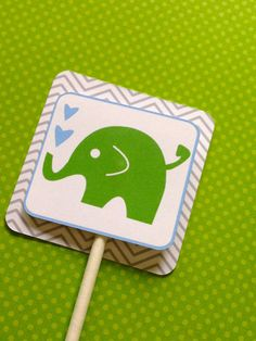 Elephant Cupcake Toppers | Elephant Baby Shower Ideas | Elephant Desserts