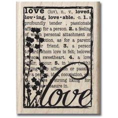 Amazon.com: Hampton Art Hf Love Defined Wood Rubber Stamp: Arts, Crafts & Sewing