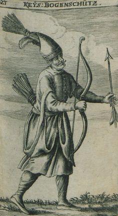 Ottoman archer in the service of the Sultan. - BUSBECQ, Ogier Ghiselin de - 1664