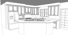 Kitchen remodel line drawing