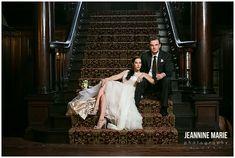 Semple Mansion, staircase, bride, groom, portraits, wedding photos, couple…