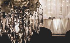 Beautiful chandelier centrepieces