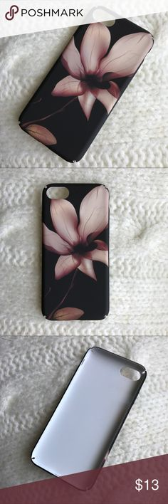 Floral Matte Case iPhone 7 Plus and iPhone 7 - Brand New - Made from durable hard case plastic Matte PC - Slim and also protective design  - Matte surface image, very nice touch feeling.  - Dirt-resistant shockproof  Please note that the inside as shown in the last photo has some small dark spots probably because of the molding. All else is in perfect condition. Accessories Phone Cases