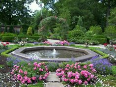 Fountain in the Rose Garden. Water Garden Guide chose this photo to illustrate their web site. Cleveland Botanical Garden, Botanical Gardens, Ohio Image, No Rain No Flowers, Plant Pictures, Garden Fountains, Enchanted Garden, Outdoor Living, Outdoor Decor