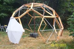 Dome assembly in progress