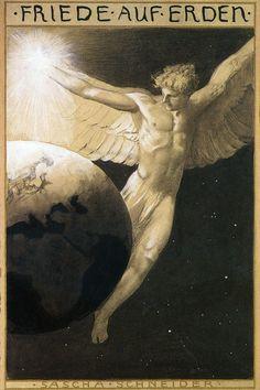 """Sascha Schneider, """"Peace on Earth"""", 1904"""
