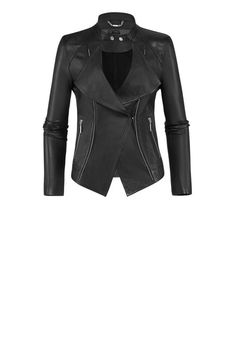 Airfield  | Leather-jacket in a biker look