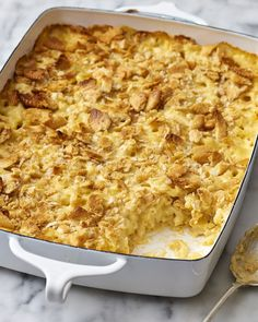 A creamy, dreamy mac & cheese that you can prep days ahead of time and just pop in the oven.