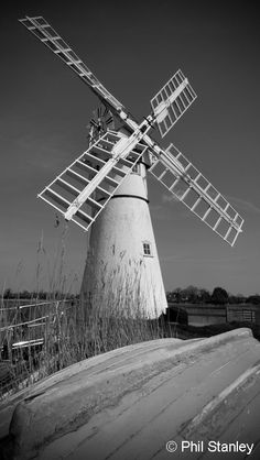 windmill....black and white watercolor??  we shall see?