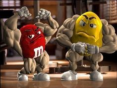 Muscle builders M & M's